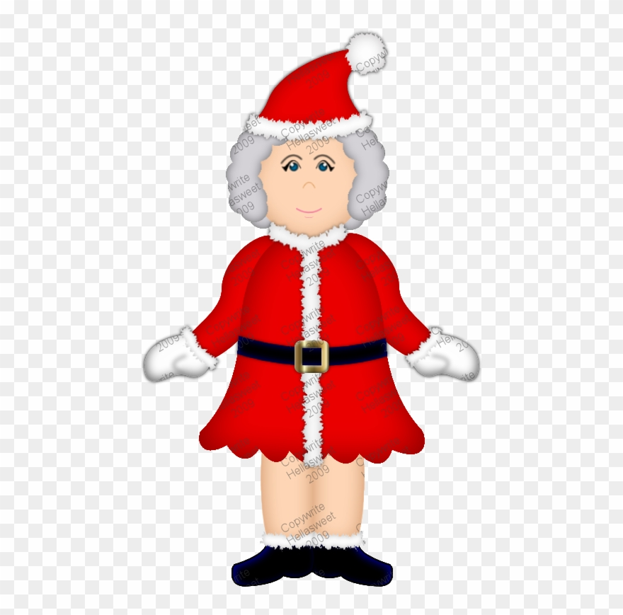 Santa And Mrs Claus Png Black And White & Transparent.