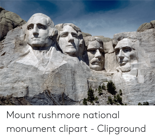 Mount Rushmore National Monument Clipart.