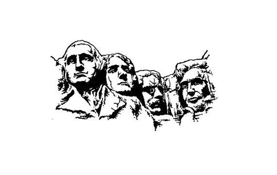 Mount Rushmore Vector at GetDrawings.com.