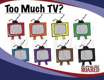 Too Much TV (Clipart).