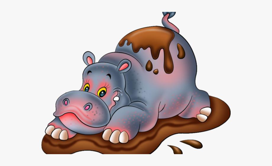Hippo Mud Clipart.