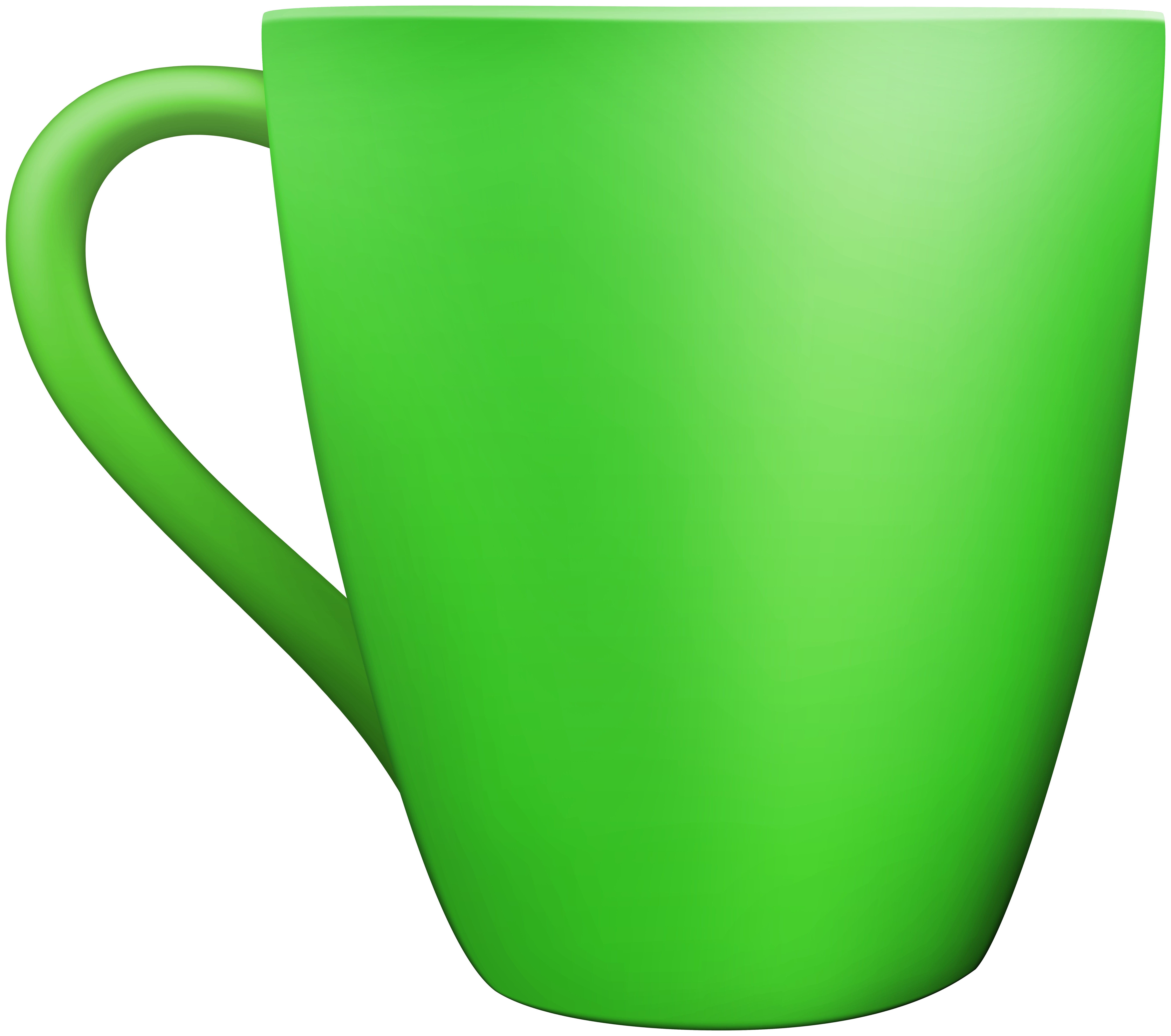 Green Ceramic Mug PNG Clip Art.