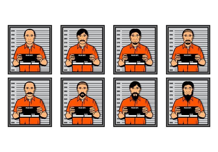 Free Mugshot Vector Illustration.