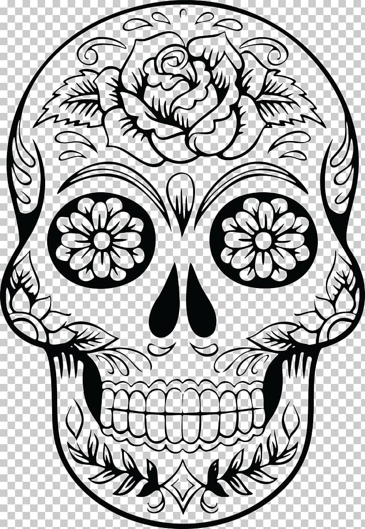 Calavera Skull Mexican cuisine , DIA DE LA MUJER PNG clipart.