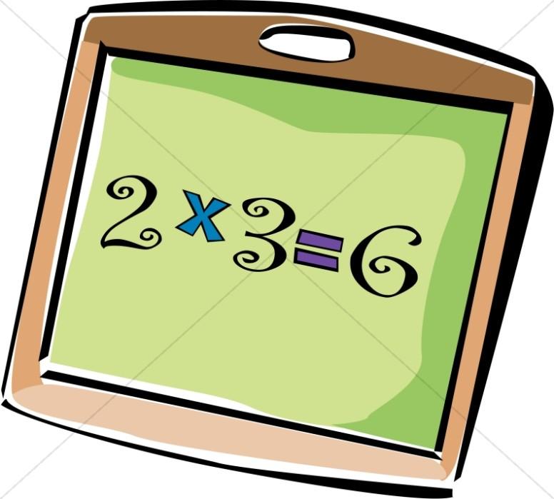 School Multiplication Chalkboard.