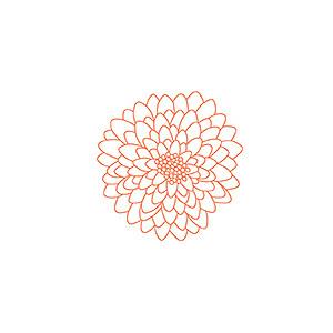 CLIP ART: Starburst Flowers // Mums // Vector PNG.