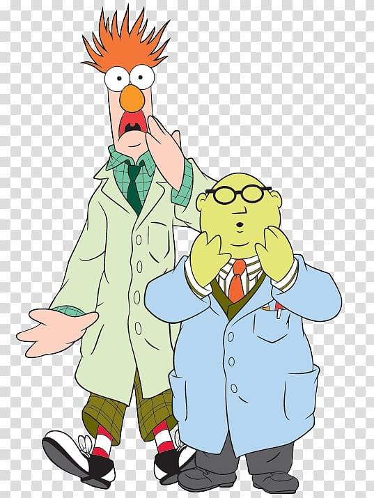 Beaker Dr. Bunsen Honeydew Animal Miss Piggy Kermit the Frog.