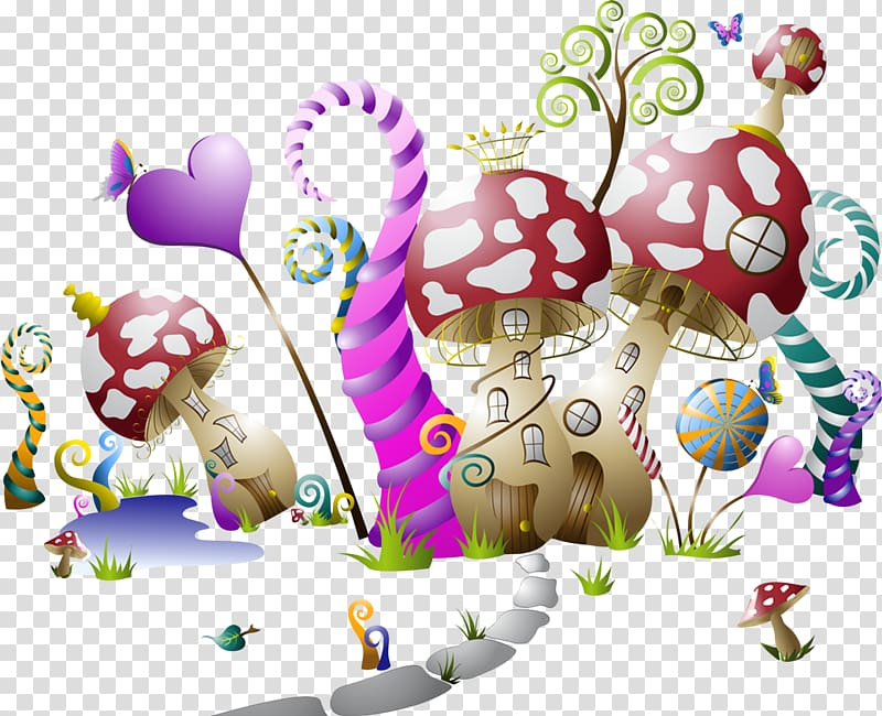 Fairy tale Mural, Fairy transparent background PNG clipart.