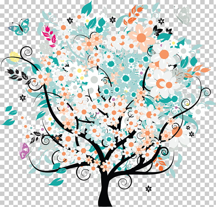 Tree Flower Oak , mural PNG clipart.