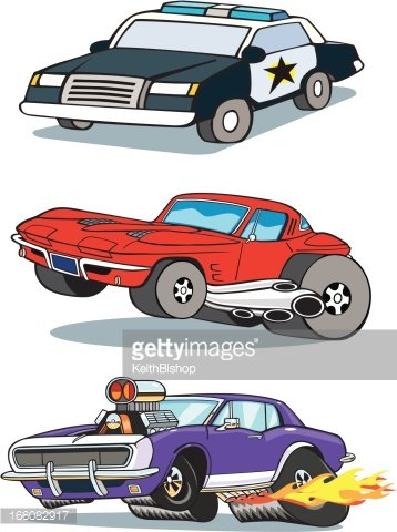 Muscle Cars and Police Vehicle.
