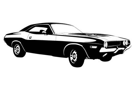 Muscle Cars Clipart.