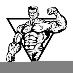 Clipart Of Muscles Man.