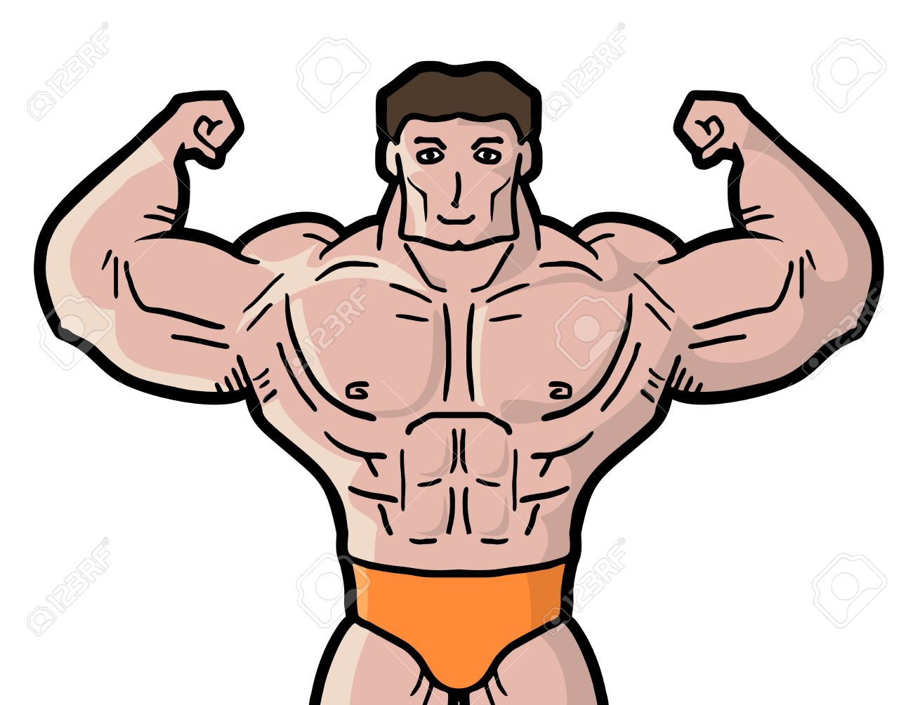 Free clipart muscle man 8 » Clipart Station.
