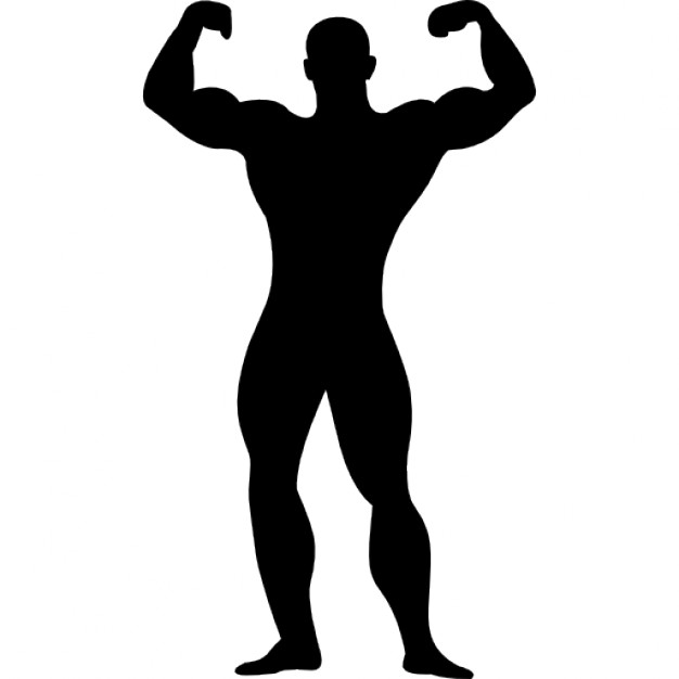 Free Muscle Man Silhouette, Download Free Clip Art, Free.