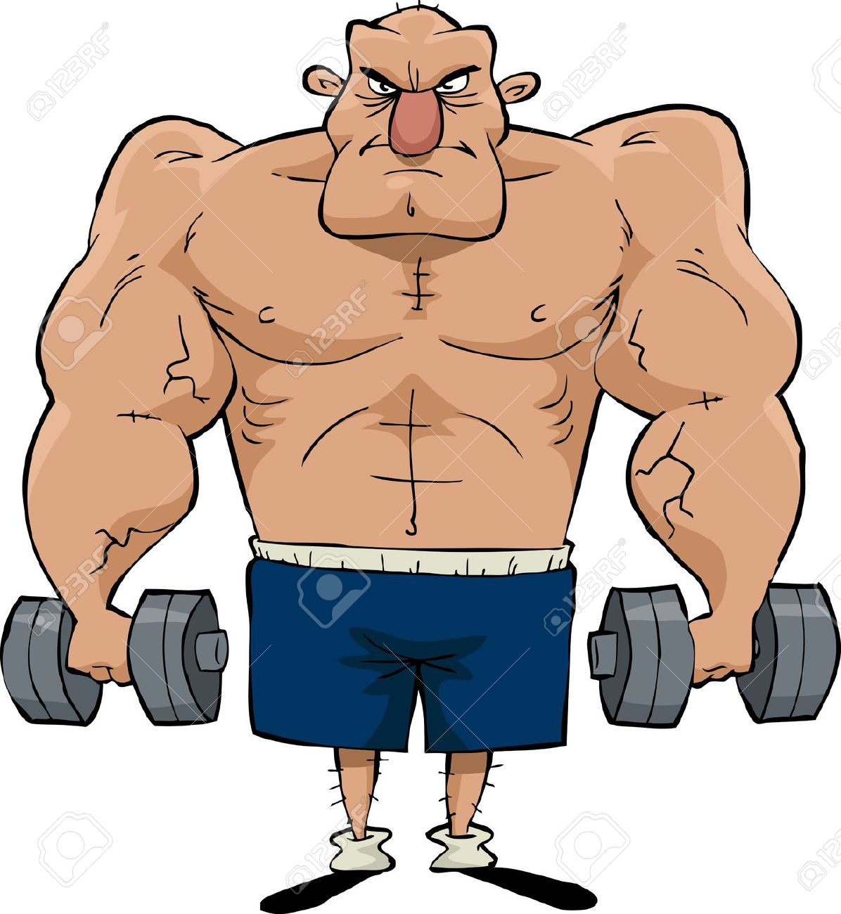 Muscle Man Clip Art & Muscle Man Clip Art Clip Art Images.