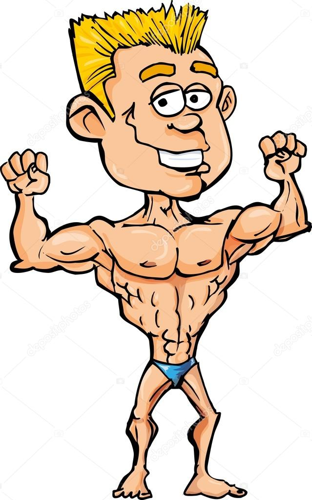 Showing post & media for Muscle man flexing cartoon.