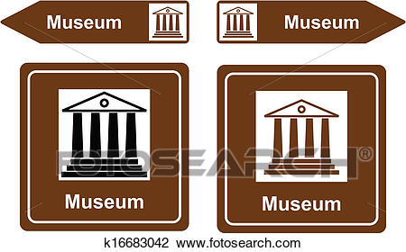 Museum sign Clipart.