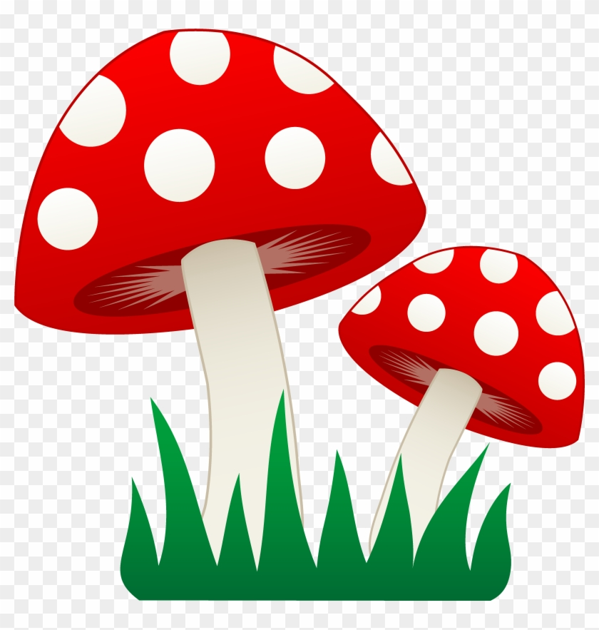 Transparent Stock Mushrooms Image Group Red And White.