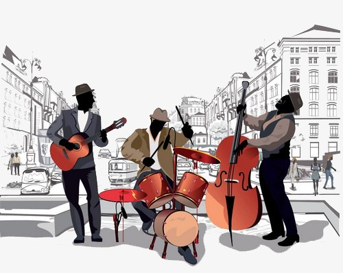 Cafe music artist PNG clipart.