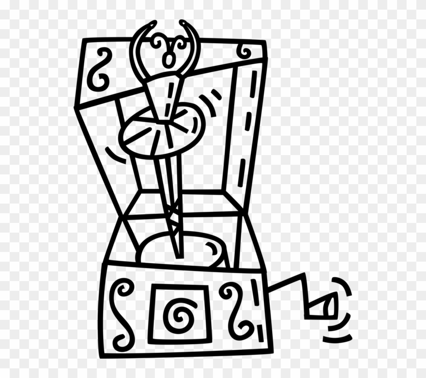 Vector Illustration Of Music Box With Dancing Ballet.