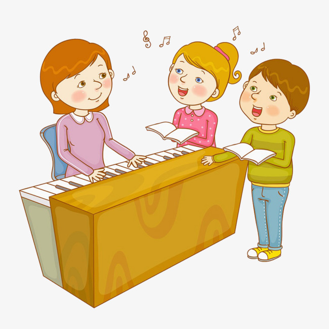 Music class illustration PNG clipart.