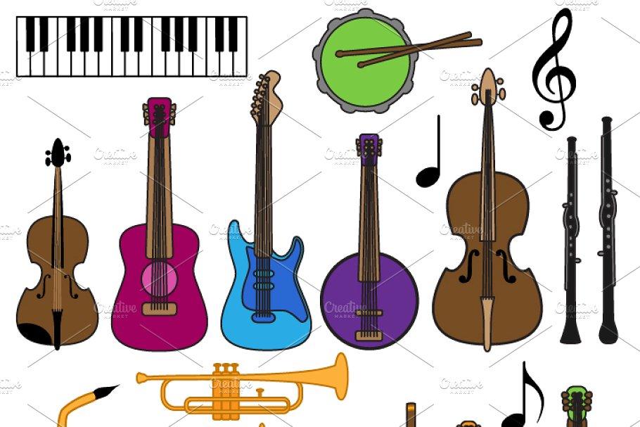 Musical Instrument Clipart & Vectors.