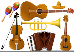 Mexican Musical Instrument Clipart.