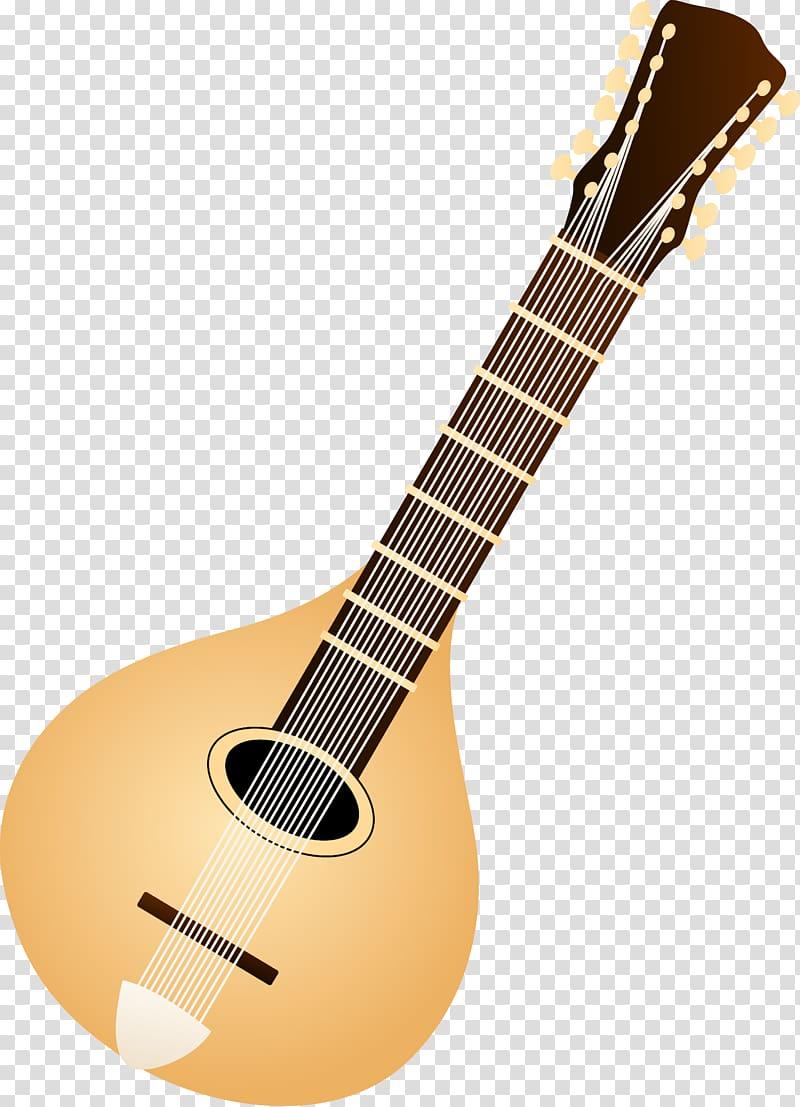 Mandolin Musical instrument Lute , Colored String transparent.