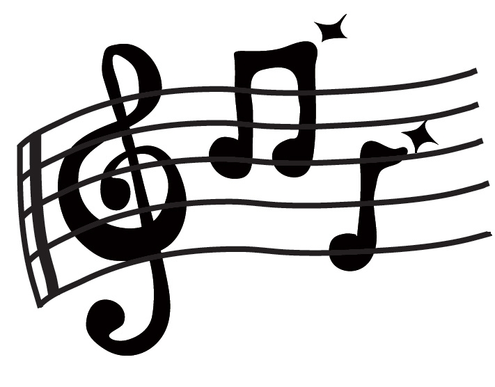Music notes black and white clipart music note logo more.