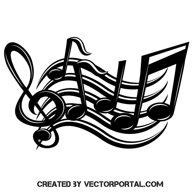 Music logo emblem vector.