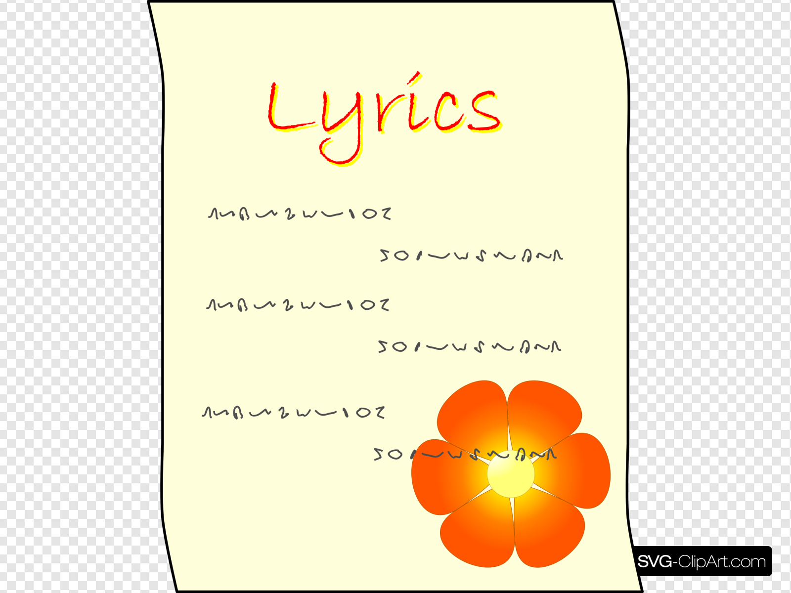 Lyrics Clip art, Icon and SVG.