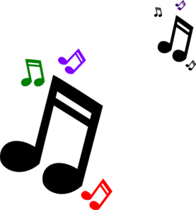 Colorful Musical Notes Png.