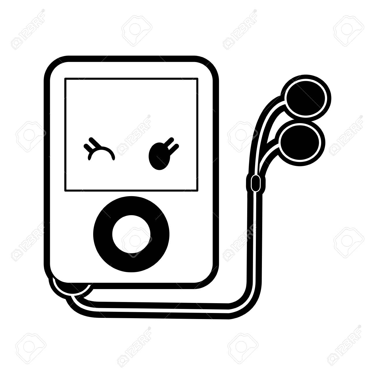 portable music player icon image vector illustration design...