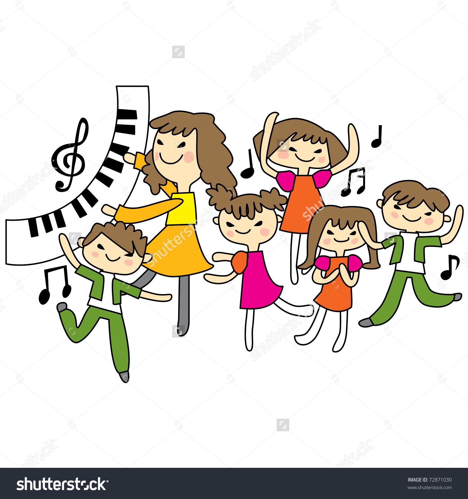 School Music Teacher Clipart.