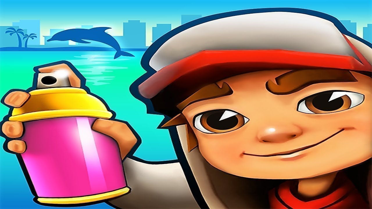 Subway Surfers Miami 2017 (Temple Run 2 Music).