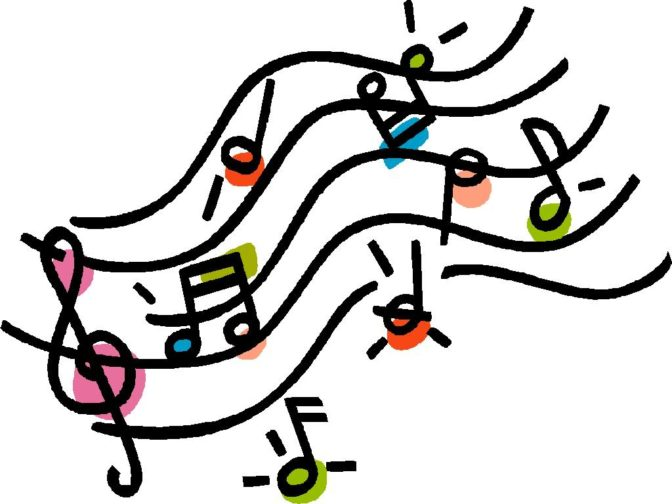 Coloring Book : Musical Notes Single Music Clip Art Free.