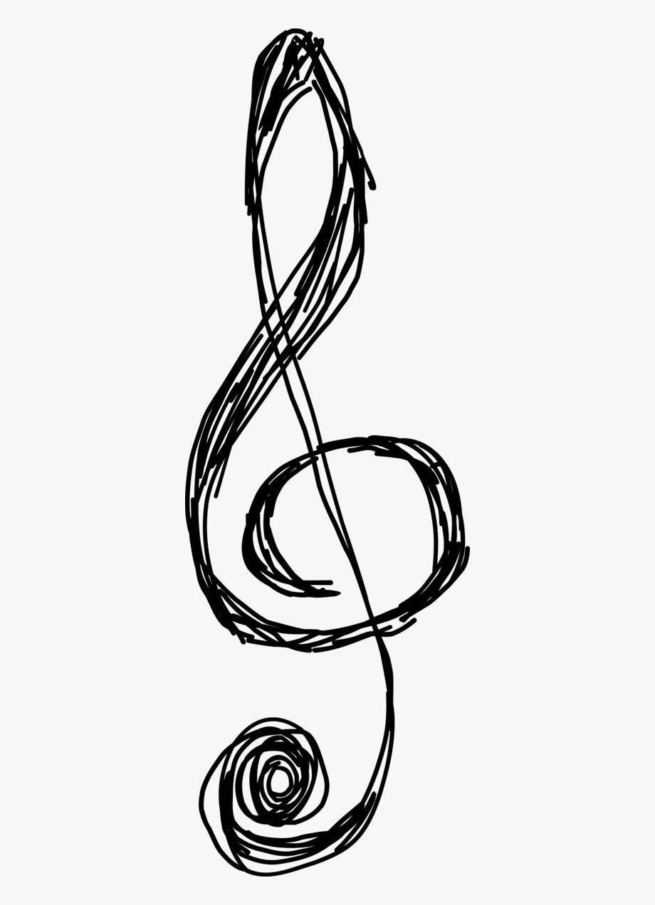 Music Notes Clipart Drawn.