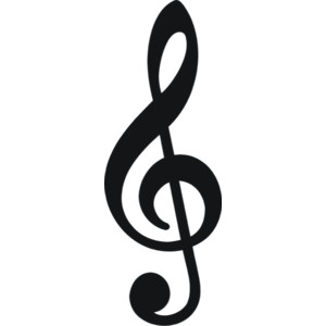 Single Music Notes Clip Art.