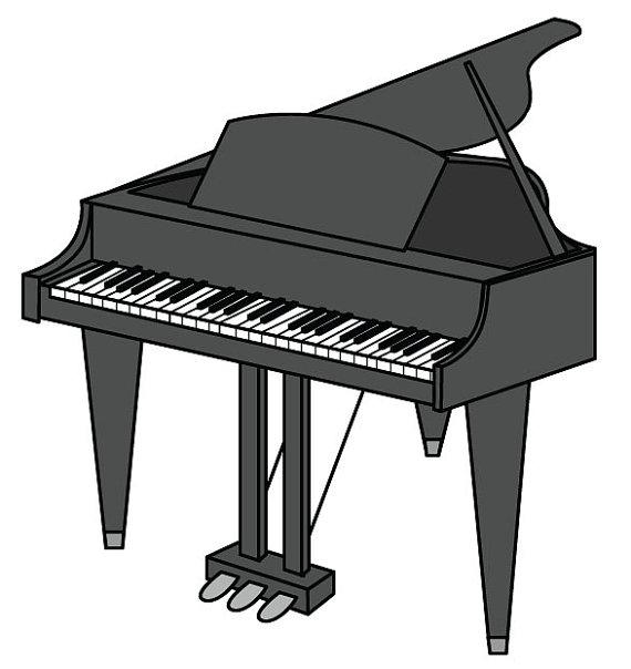 Piano Clip Art/ Piano Vector Graphic Digital Download/ Piano JPEG.