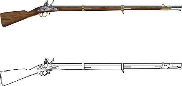 Best Musket Illustrations, Royalty.