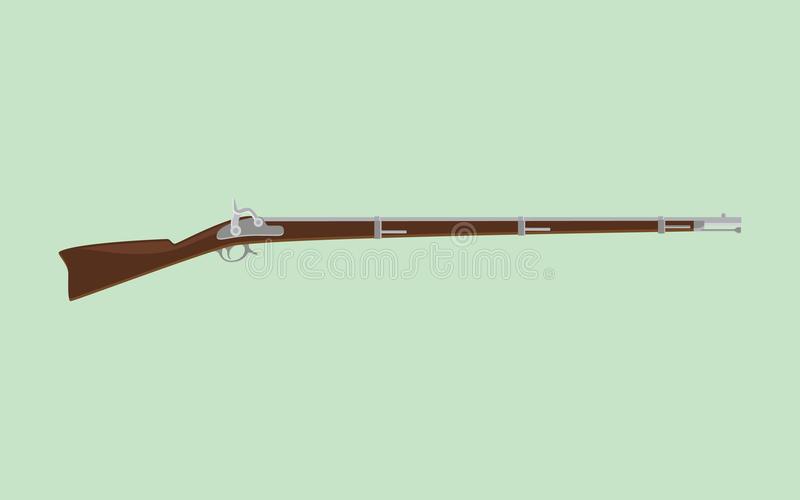 Flintlock Rifle Stock Illustrations.
