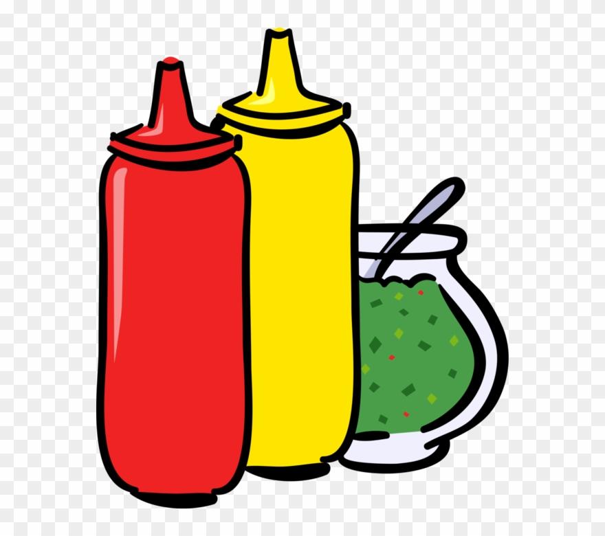 Vector Illustration Of Ketchup, Mustard And Relish.