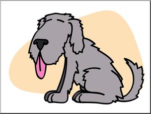 Clip Art: Basic Words: Mutt Color Unlabeled I abcteach.com.