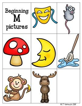 Beginning Sounds B, R, M, S: Words Their Way Letter Name.
