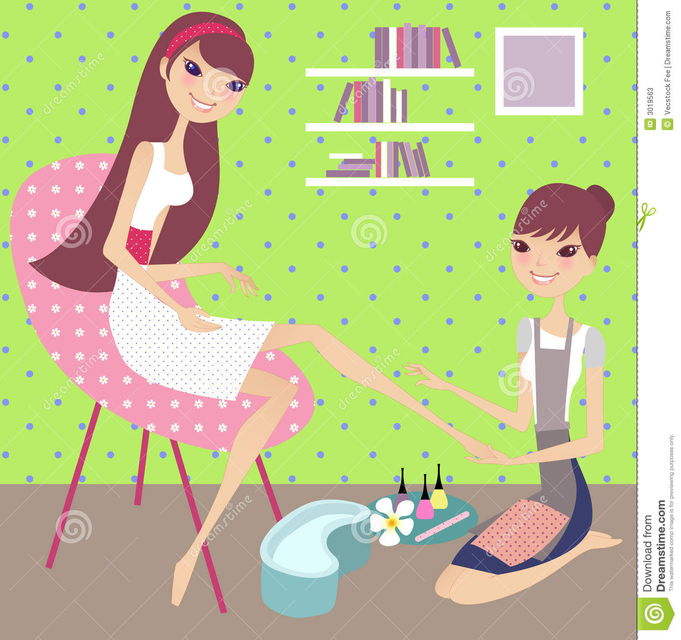 A Nail Art Beauty Salon Fashion Makeover Game For Girls: Clipart Nail Spa