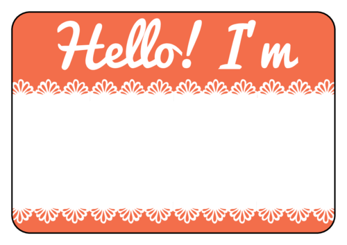 Name Tag Background clipart.