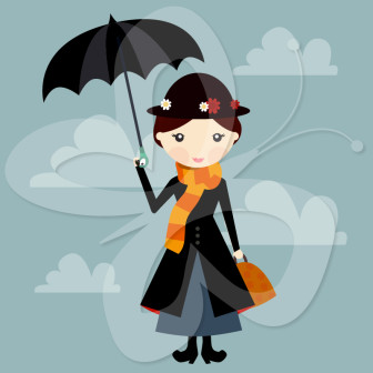 nanny. Mary Poppins Clip Art.
