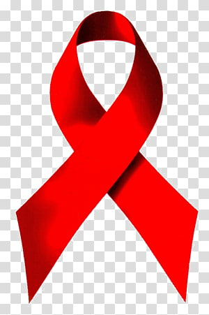 Red ribbon World AIDS Day Diagnosis of HIV/AIDS, cancer.