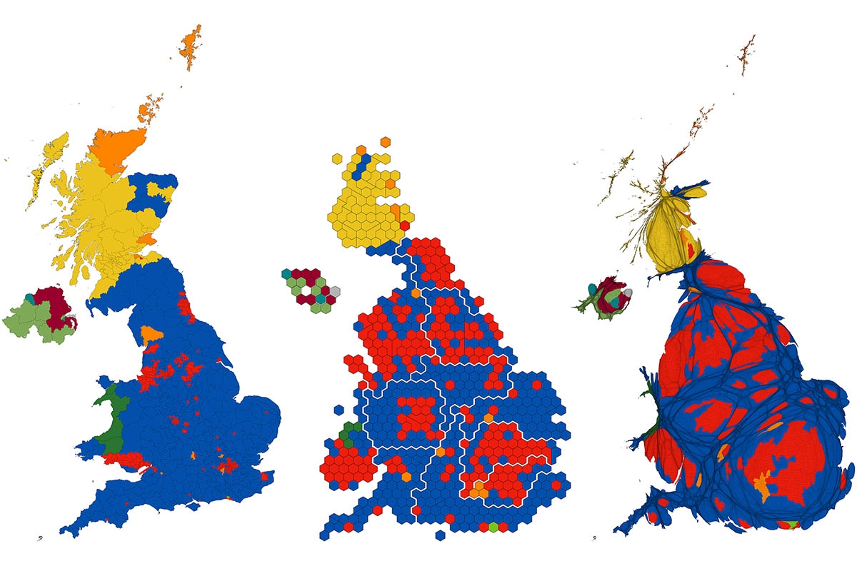 Mapping the 2019 UK General Election.