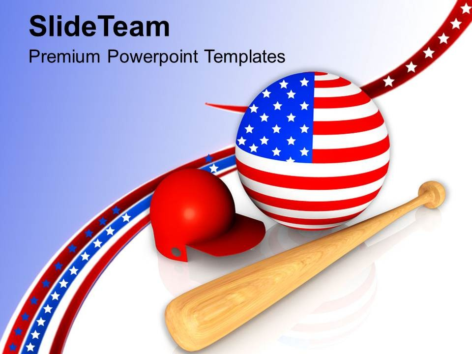 Baseball Is The National Game Of USA PowerPoint Templates PPT.